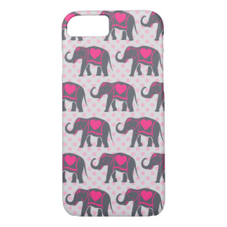 Hübsche graue heiße rosa Elefanten auf rosa iPhone 8/7 Hülle