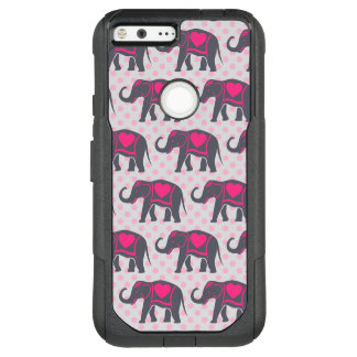 Hübsche graue heiße rosa Elefanten auf rosa OtterBox Commuter Google Pixel XL Hülle
