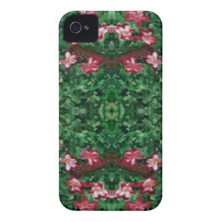 Hübsche grüne Rosen-künstlerisches Muster iPhone 4 Case-Mate Hülle