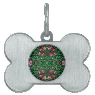 Hübsche grüne Rosen-künstlerisches Muster Tiermarke