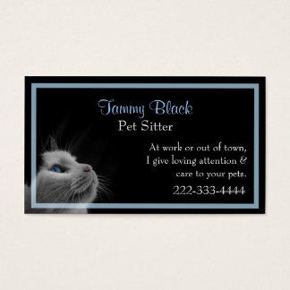 Hübsche Katzen-stilvolle Haustier-Sorgfalt Visitenkarte