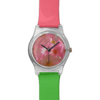 Hübsche KirschBlumen Armbanduhr