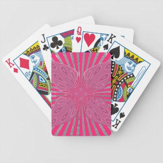 Hübsche klare rosa schöne fantastische nervöse bicycle spielkarten