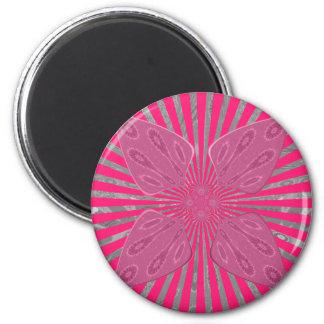 Hübsche klare rosa schöne fantastische nervöse runder magnet 5,7 cm
