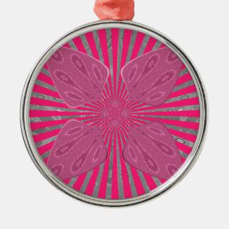 Hübsche klare rosa schöne fantastische nervöse silbernes ornament