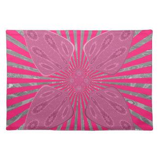 Hübsche klare rosa schöne fantastische nervöse stofftischset