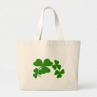 Hübsche Kleeblatt-Girlanden-irisches Grün Jumbo Stoffbeutel
