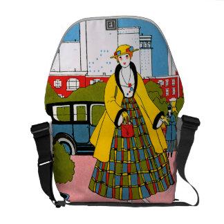 Hübsche Kleidermode-Rickshaw-Bote-Tasche Kuriertaschen