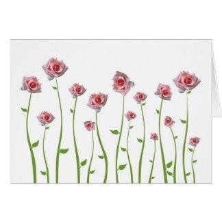 Hübsche kleine Rosen-Gruß-Karte