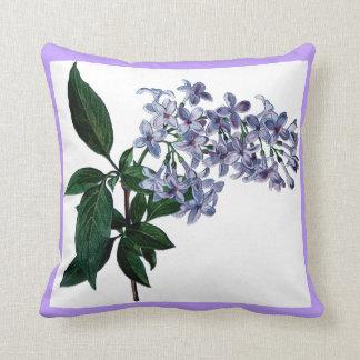 Hübsche lila Blumen-lila dekoratives Kissen