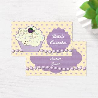 hübsche lila Kuchengeschäft Karten