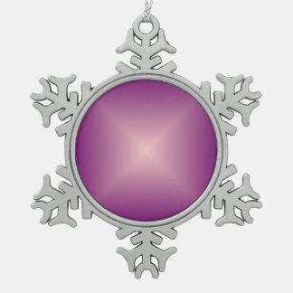 Hübsche lila Pink>Snowflake Verzierung Schneeflocken Zinn-Ornament