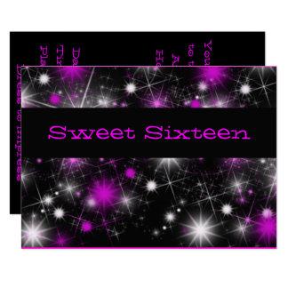 Hübsche, lila und schwarze 16. karte