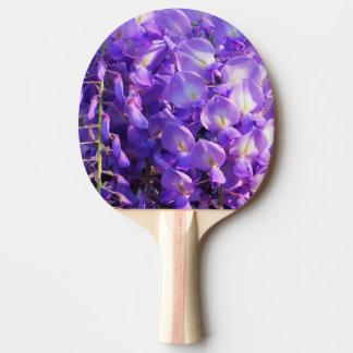 Hübsche lila Wisteria-Blumen Tischtennis Schläger