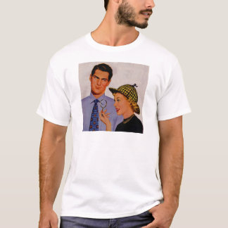 hübsche Mann und Ehefrau Frau Arlene Sherlock T-Shirt