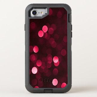 Hübsche Moosbeerenrote Bokeh Blurry funkelnd OtterBox Defender iPhone 8/7 Hülle