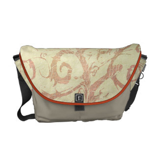 Hübsche neutrale beige Sandstein-Reben blühen Kurier Taschen