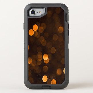 Hübsche orange Bokeh Blurry funkelnd Lichter OtterBox Defender iPhone 8/7 Hülle