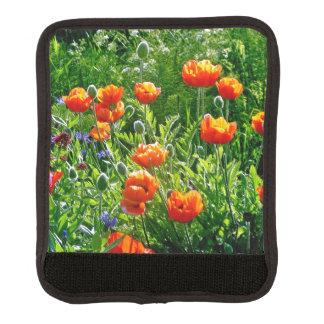 Hübsche orange Mohnblumen Gepäck Markierung