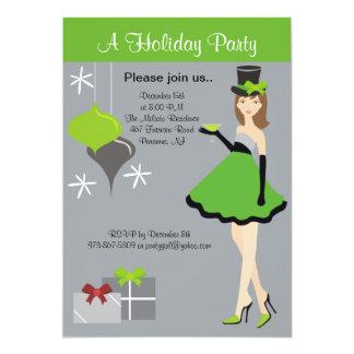 Hübsche Party-Mädchen-Feiertags-Party Einladung