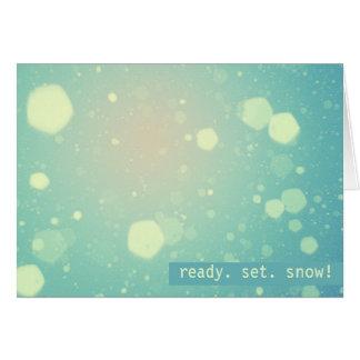 Hübsche Pastellwinter-Schneefälle Karte