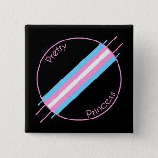 Hübsche Prinzessin Pin Quadratischer Button 5,1 Cm
