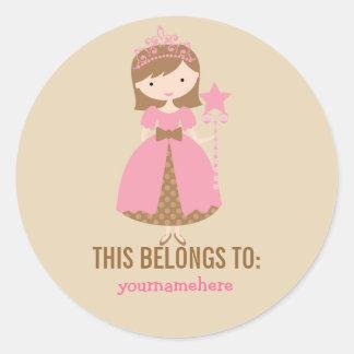 Hübsche Prinzessin THIS GEHÖRT Aufklebern Runder Aufkleber