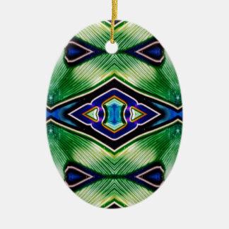 Hübsche reiche Schatten des grün-blauen Lavendels Ovales Keramik Ornament