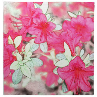 hübsche rosa Azaleen-Blumen. Blumengarten-Pflanze Stoffserviette
