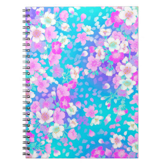 Hübsche rosa Blumen Notizblock
