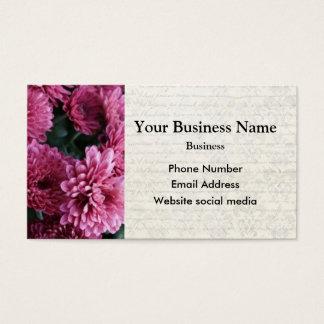 Hübsche rosa BlumenBlume Visitenkarte