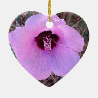 Hübsche rosa Blumenverzierung Keramik Ornament