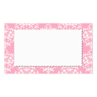 Hübsche rosa Damast-Eskorte-Platzkarte Visitenkarten