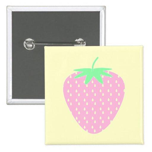 Hübsche rosa Erdbeere Anstecknadelbutton