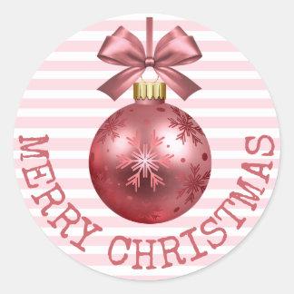 Hübsche rosa frohe Weihnacht-Verzierungs-Aufkleber