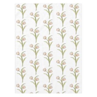 Hübsche rosa Frühlings-Tulpe-Muster-Tischdecke Tischdecke