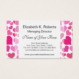 Hübsche rosa Herzen für Bachelorette oder Braut Visitenkarte