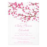 Hübsche rosa Kirschblüten-Blumenbaby-Dusche Individuelle Ankündigungen