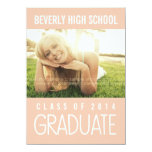 Hübsche rosa Klasse von Abschluss-Party-Foto 2014 Personalisierte Ankündigungen