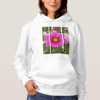 Hübsche rosa Kosmos-Blume Hoodie