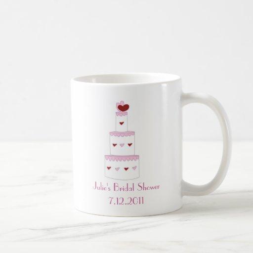 Hübsche rosa Kuchen-Brautparty-Bevorzugungs-Tasse Tasse