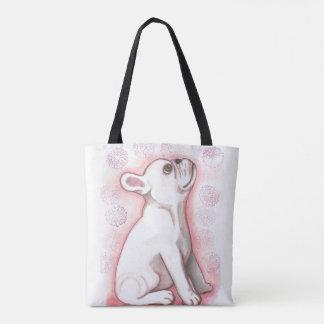 Hübsche rosa niedliche Tasche der französischen