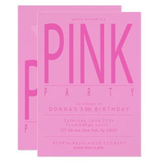 Hübsche rosa Party Einladungen