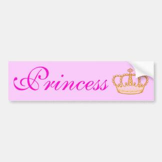 Hübsche rosa Prinzessin Bumperr Sticker Autoaufkleber
