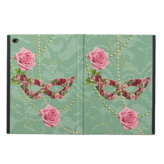 Hübsche rosa Rosen Maskerade u. Perlen-weich Grün