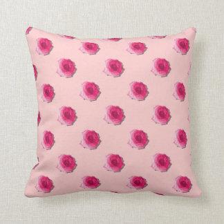 Hübsche rosa Rosen-Wiederholung Patern Kissen