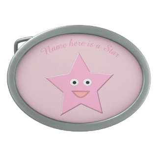 Hübsche rosa Stern-Gürtelschnalle Ovale Gürtelschnalle