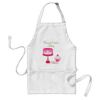 Hübsche rosa u grüne Bäckerei-Geschäfts-Schürze