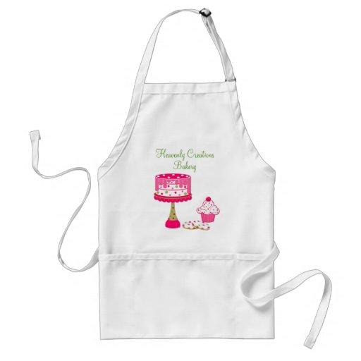 Hübsche rosa u. grüne Bäckerei-Geschäfts-Schürze