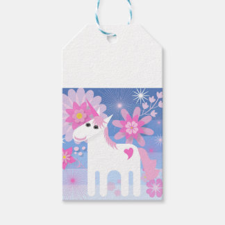 Hübsche rosa Unicorn-Geschenk-Umbauten Geschenkanhänger